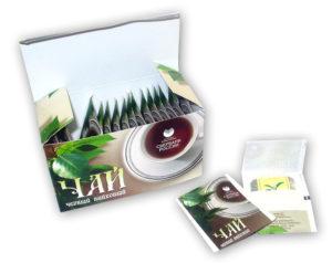 Чай в пакетиках с логотипом компании на заказ